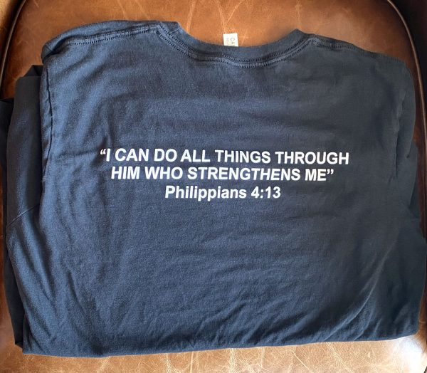 The Lord is Powerful T-Shirt (Back)